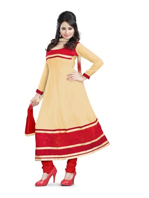 Chiku embroidered georgette unstitched salwar with dupatta