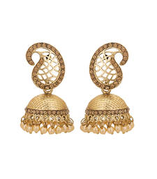 Buy gold plated stunning hand crafted Earring women-ethnic-wear online