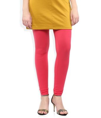 Red cotton lycra leggings