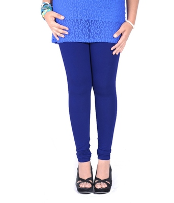 Blue cotton lycra leggings