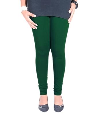 Green cotton lycra leggings