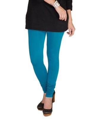 Blue cotton lycra leggings