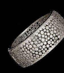 Buy Design no. 16.58 B white polish. Rs. 3200....2.4 bangles-and-bracelet online