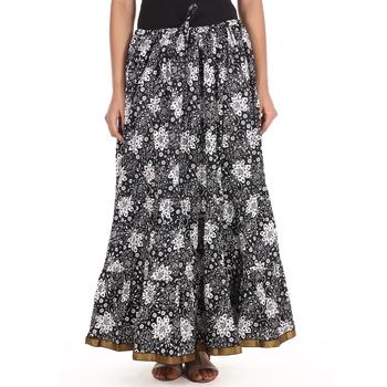 Black printed Cotton skirts