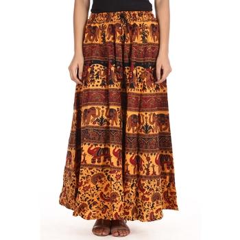 Yellow printed Cotton skirts