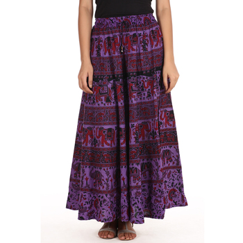 Purple printed Cotton skirts