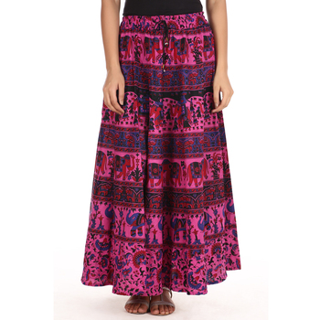 Pink printed Cotton skirts