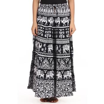 White printed Cotton skirts
