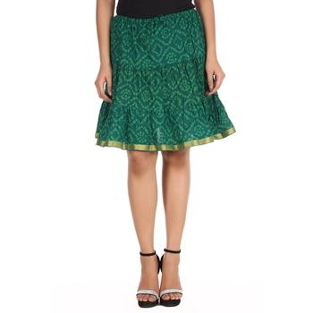 Green printed Cotton skirts