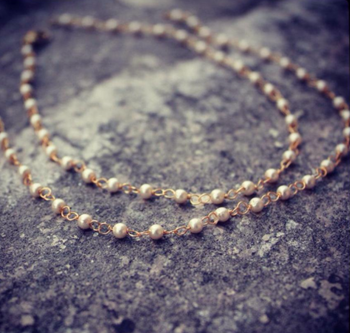 Delicate and Elegant Pearl String Anklets