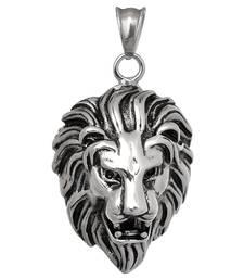 Movies Silver Stainless Steel Stylish Singham Pendant for Men Boys men-pendant
