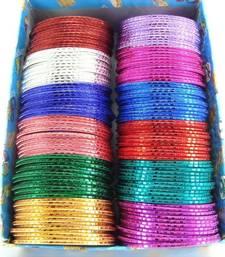 Buy Multicolor 144pc party wear metal bangle bracelet l10 bangles-and-bracelet online