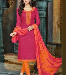 Buy Maroon embroidered cotton salwar cotton-salwar-kameez online
