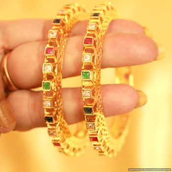 Multicolour Diamond Look Bangle Pacheli