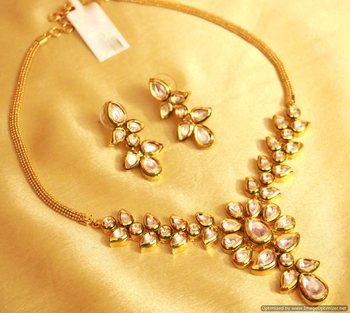 Kundan Meenakari Paisley Necklace Set