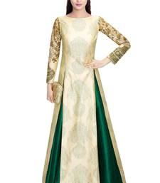 Buy Green plain art silk unstitched lehenga ghagra-choli online