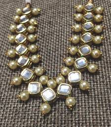 Buy Kundan and Double Pearl Choker Necklace Necklace online