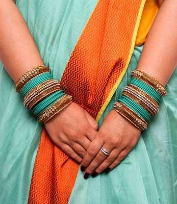 Yellow Kundan Bangles And Bracelets