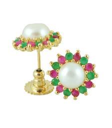 Buy Ruby Emerald Traditional Earring Earring online