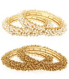 Buy White pearl jewellery-combo bangles-and-bracelet online