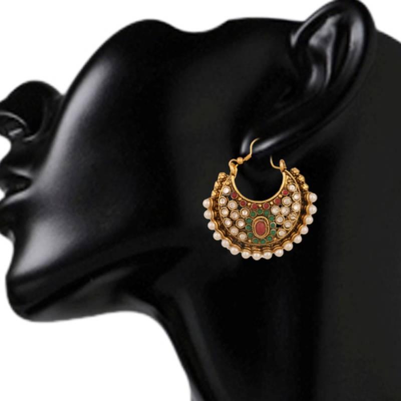 kundan kundans earrings traditional polki ethnic jewellery