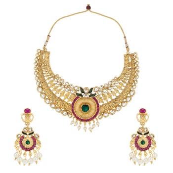 Indian Kundans jewellery sets kundan stone necklace set bridal jewellery set