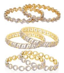 Buy White cubic zirconia jewellery-combo bangles-and-bracelet online