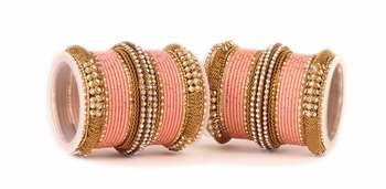 Pink Kundan Bangles And Bracelets