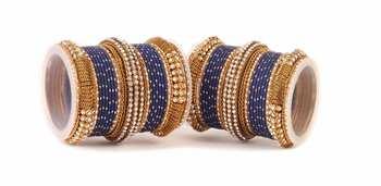 Blue Kundan Bangles And Bracelets