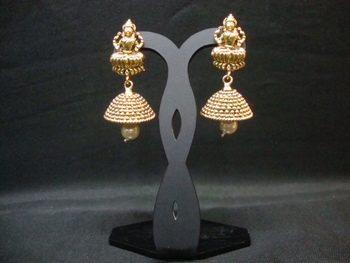 f1efb231472be Multicolor polki jhumkas
