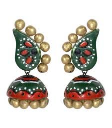 Buy Multicolour Designer Terracotta Fashion Jhumka Earring terracotta-jewelry online