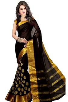 83fe6eec044 Black embroidered saree with blouse