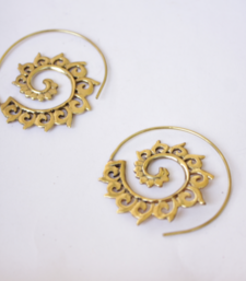 Buy Tribal Floral Spiral Earrings hoop online
