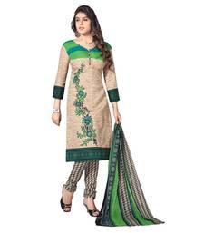 Buy Multicolor Cotton embroidered unstitched salwar with dupatta cotton-salwar-kameez online