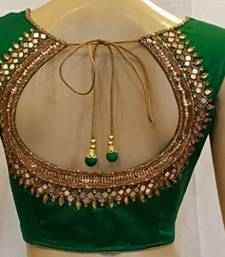 Buy Green Dupion Silk stitched Blouse bridal-blouse online