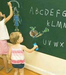 Buy Green Board with Free Chalk sticks' Wall Sticker (60 cm X 100 cm) wall-decal online