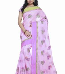 Buy Pink embroidered silk saree with blouse kota-silk-saree online