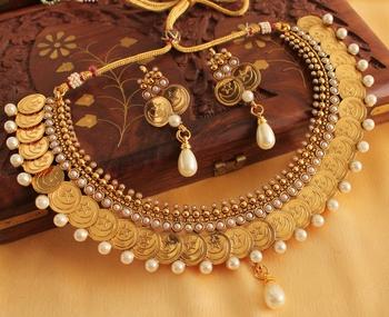 Awesome Jama Masjid Coin Necklace Set