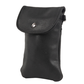 Simple Yet Stylish Black Mobile Pouch Bag