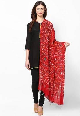 Beautiful Red Cotton Dupatta