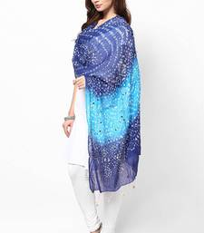 Buy Shaded Blue Cotton Bandhej Dupatta stole-and-dupatta online