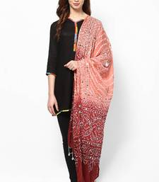 Buy Shaded Cotton Hand Work Bandhej Dupatta stole-and-dupatta online