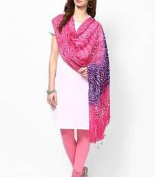 Buy Pink Purple Cotton Hand Work Dupatta stole-and-dupatta online