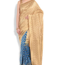 Buy Beige turq.saree silk saree with blouse silk-saree online