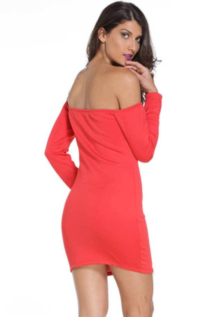 Red Polyester And Spandex Sexy Western Wear - N-Gal - 1598411-9639