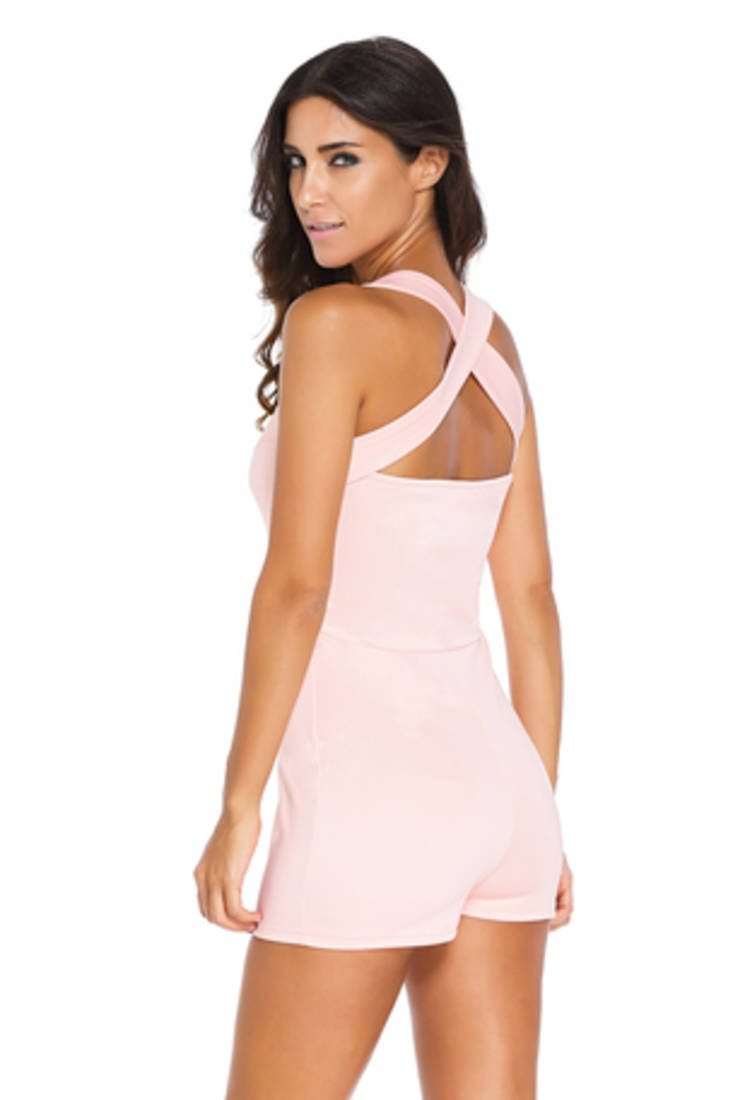 Pink Polyester And Spandex Sexy Western Wear - N-Gal - 1598575-9692