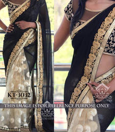 Buy Multicolor embroidered georgette saree with blouse bollywood-saree online