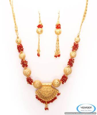 Vendee One grem gold necklace set 6799