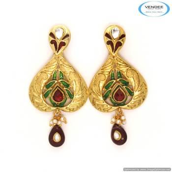 Vendee Costume fashion designer earrings 6814