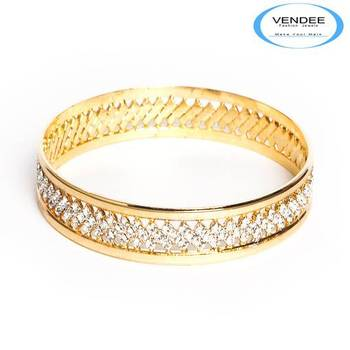 Vendee Gold plated party wear Diamond Bangles 2817